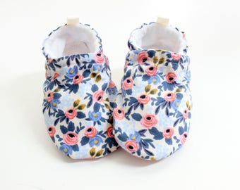 Periwinkle rifle paper co  baby shoes, baby shoes, soft sole, baby booties, toddler shoes, baby girl shoes