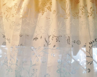 Custom floral sheer drapes
