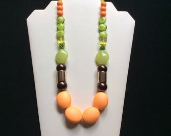 Orange and lime necklace