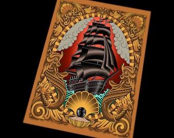 Black Pearl Clipper Ship