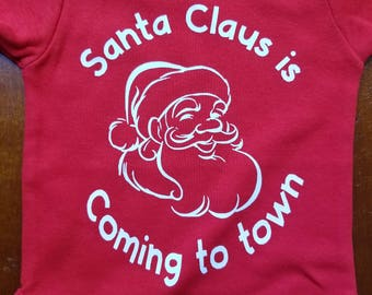 Santa Claus is Coming to Town Onesie