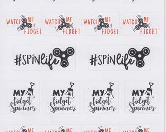Fidget Spinner | 021 | Planner Stickers | Kikki-K | Happy Planner | Erin Condren