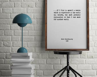 C.S. Lewis, Book Quotes, Wall Art, Home Decor, Inspiring Quotes, Vintage Art, Minimalist Art, Literary Art, Library Art