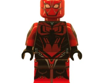 LEGO minifigures Custom Spiderman Mark 2 Made with Original LEGO Parts