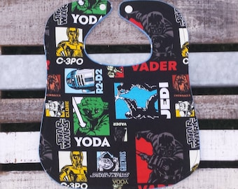 Star Wars feeding bib for babies and toddlers