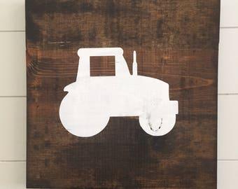 Tractor Wall Decor - Tractor Wall Art - Wooden Tractor Sign - Tractor Nursery - John Deere Nursery - Farm Nursery Decor - Boy Nursery
