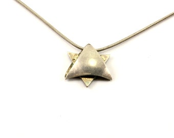 Vintage Opal Star of David Necklace 925 Sterling Silver NC 1052