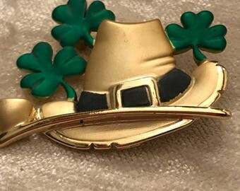 St. Patrick's Day Pin AJC Signed