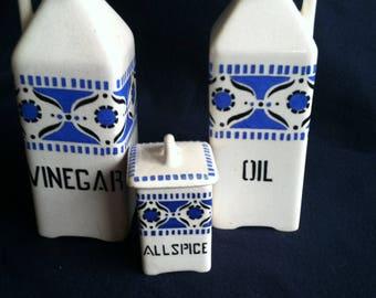 Czech Oil and Vinegar cruets