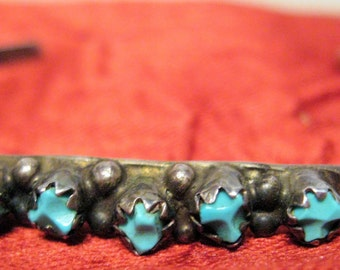 Baby/Child  Turquoise Silver  Bracelet Navajo