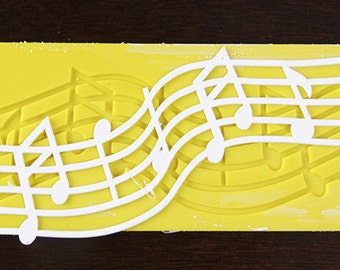 Cake Lace Music Notes