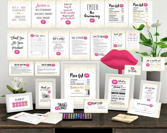 Lipsense Business Cards, the ULTIMATE Marketing Kit, Lipsense Marketing Bundle, Lipsense Party Printables, Business Cards Bundle, 29 files