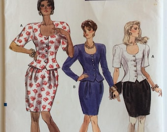 Vogue sewing pattern 7172 - Misses' petite top and skirt - size 12-14-16