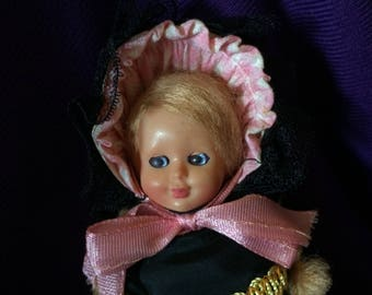 Vintage Celluloid Doll in Danish Amager Traditional Costume - 1960