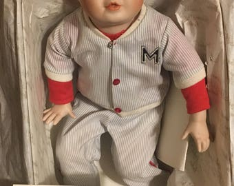 Ashton Drake Michael Porcelain Doll with Certificate of Authenticity