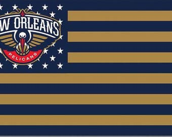 SUMMER SALE: New Orleans PelicansTeam Flag and Banner 3' x 5'