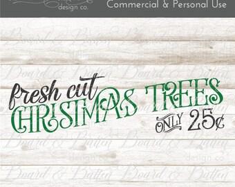 Christmas Sign Svg - Christmas Trees Svg - Christmas Svg Files - Christmas Cut Files - Christmas Svg Files for Cricut - Wood Sign Svg  Dxf