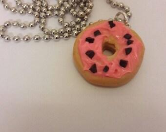 Ring Doughnut Polymer Necklace