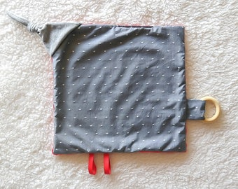 Baby Sensory Blanket - Gray and Red