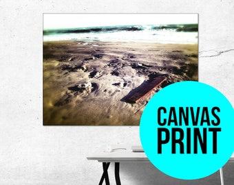 Beach Canvas Wall Art beach canvas art | etsy