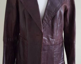 MARC AUREL Brown Leather Jacket