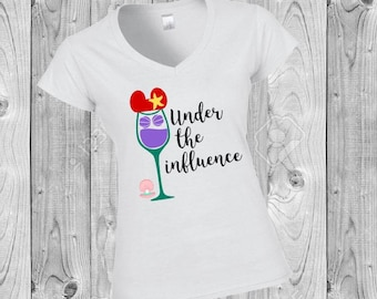 Little Mermaid Under the Influence  Epcot Food and Wine Festival Disney World Women's Disney Shirt Disneyland Ariel The Little Mermaid group