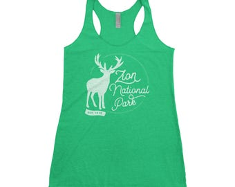 Zion National Park Adventure Next Level Ladies Tri-Blend Tank
