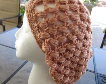 Peachy Bobble Slouch Hat