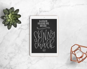 Skinny Chalk - Custom Brush for Procreate App, iPad Pro, Procreate Brushes, Chalkboard Lettering, Hand Lettering, iPad Lettering