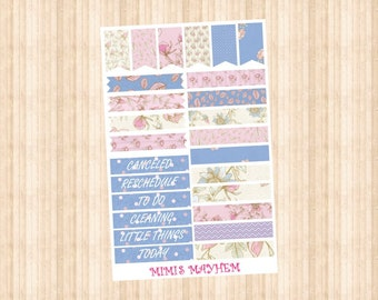 Flower Banners & Flags // Happy Planner // Erin Condren //Personal