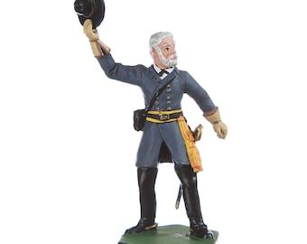 Tin Toy Soldier US Civil war Confederate General Robert Lee metal figurine 54mm hand painted #5.11