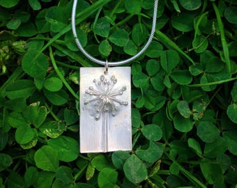 Fennel flower necklace in Fine Silver