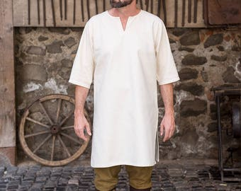 Burgschneider Medieval Viking 3/4 sleeve Cotton Under-tunic Lofar