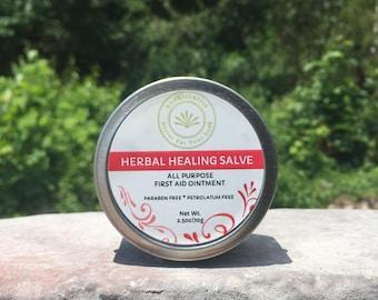 Healing Salve, Boo Boo Balm, First Aid Ointment, Multi-purpose, Natural, Neosporin, Baby, Kids, Antibacterial, Herbal Healing Salve