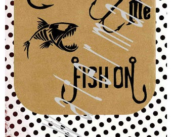 Fishing SVG - Fishing iron on transfer - Bite me SVG - silhouette cameo cricut  - Hiker mountain Camping JPEG shirt fish on svg fisherman