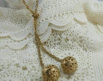 Vintage Victorian  Lariat Filigree Necklace