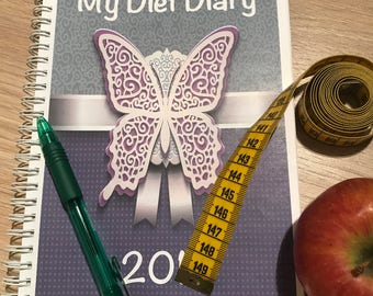Diet Diary & Food Diary Journal, Slimming Weight Loss Planner