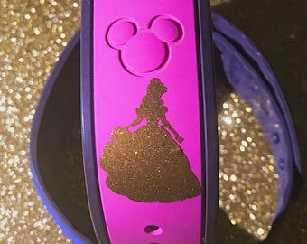 Gold Glitter Belle Magic Band Decal, Magic Band Decal, Magic Band 2.0 Decal, Belle Magic Band Decal