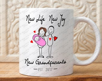 Grandparents mug, Pregnancy announcement, grandparents gift, gift for grandparents, grandma, grandpa,new baby,coffee mug
