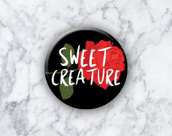 "Harry Styles - Pinback Button/Badge (1.25"") - SWEET CREATURE"