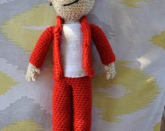 Matthew Bellamy of Muse, Doll, Crochet Customizable. On command