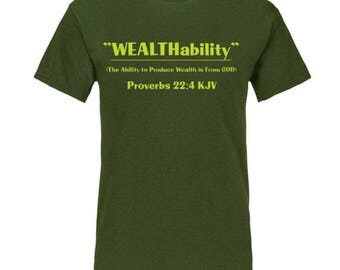 WEALTHability Tshirt Cotton