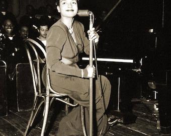 "1943 Pianist Hazel Scott, Naval Training Station Vintage Photograph 8.5"" x 11"""