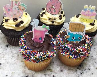 Shopkins (Edible) Cupcake Toppers, Shopkins, Shopkins cupcake topper, Shopkins Decor, Shopkins Birthday, Shopkins Party, Shopkins Theme