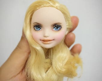 Ever After High OOAK Apple White repaint custom doll HEAD!!