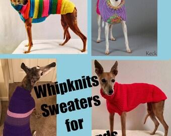 Dog Sweater Knitting Pattern, Dog Sweater Pattern, PDF Instant Download, Knitted Dog Coat Pattern, Whippet Sweater Pattern, Dog Coat Pattern
