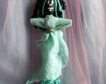 Voodoo Doll Authentic Elegant Vodou New Orleans Altar Doll Love Sacred Poppet Art Doll Love Sacred Blessed One of a kind