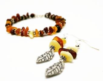 Baltic Amber Bracelet and Earrings