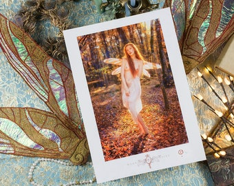 "Fine Art Print A3 (29.7/42cm) of ""Morning Light Fairy"", limited series of 30 copies - Photography by Psyche Ophiuchus"