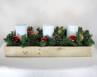 Wood Centerpiece, Dining Table Centerpiece, Wood Box Centerpiece, Wooden  Box Centerpiece, Dining